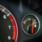 Free stock photo Gas tank gauge on a car dashboard reading full