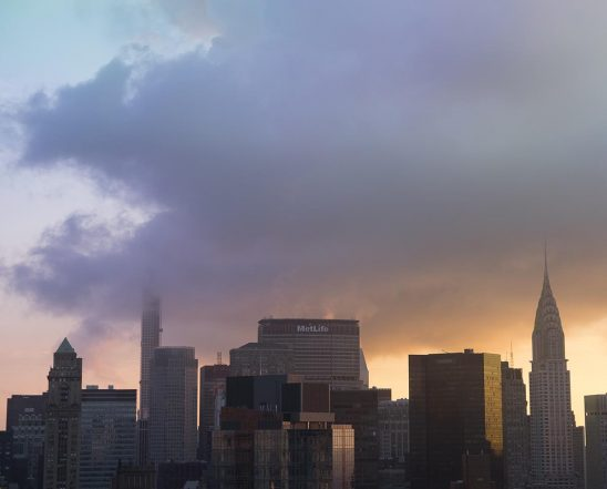 Free stock photo Midtown Manhattan with clouds at dawn