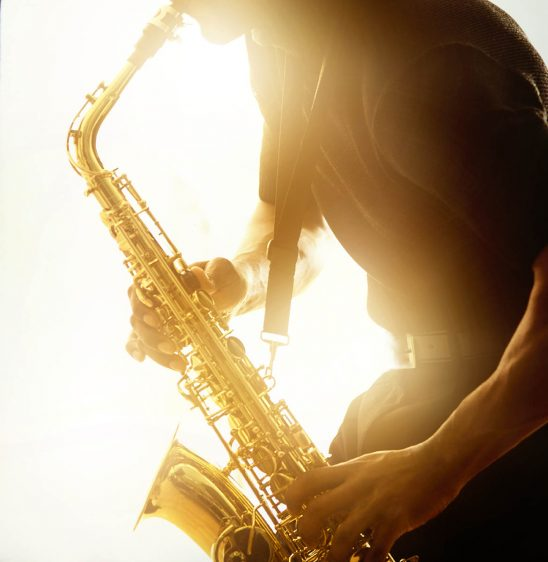 Free stock photo Jazz musician playing a saxaphone